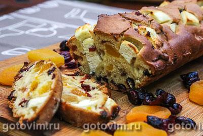 Фотография рецепта Кекс с сыром фета и сухофруктами