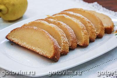 Влажный лимонный кекс. Фотография рецепта