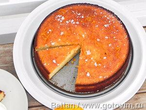 Миндально-апельсиновый кекс без муки
