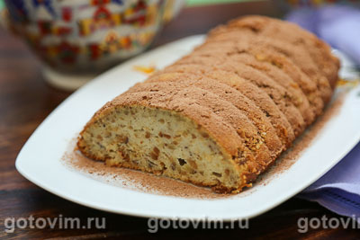 Фотография рецепта Творожный кекс с фундуком