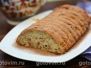 Творожный кекс с фундуком