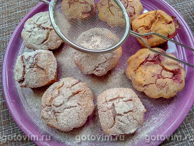 Кексы из рисовой муки с малиной, Шаг 06