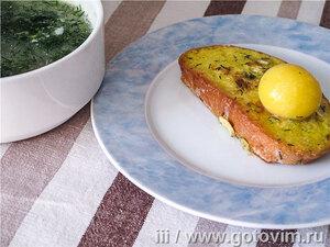 Киклико – гренки с яйцом по-грузински