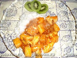 Курица с ананасом в кисло-сладком соусе