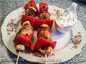 Колбаски гриль с мятным соусом