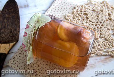 Компот из персиков с лимонным соком