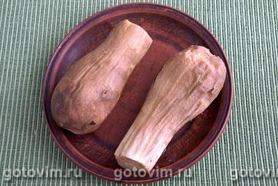 Консервированные печеные баклажаны с сельдереем, Шаг 02