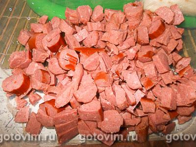 Конвертики из лаваша с колбасой и сыром, Шаг 01