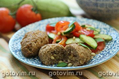 Мясные котлеты с булгуром по-ливански (Киббех) . Фотография рецепта