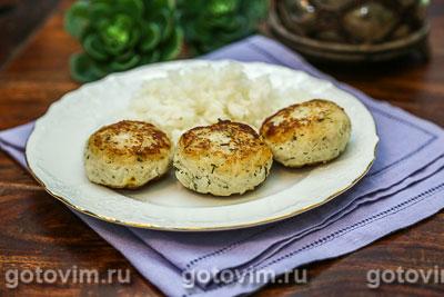 Фотография рецепта Рыбные котлеты из судака с рисом