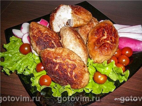 котлеты мясные с начинкой рецепт