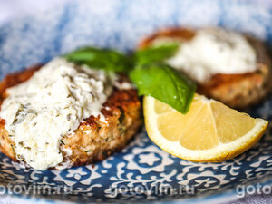 Морской окунь с пюре и луковым соусом, пошаговый рецепт с фото