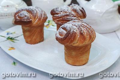 Краффины (булочки из ложного слоеного теста). Фотография рецепта