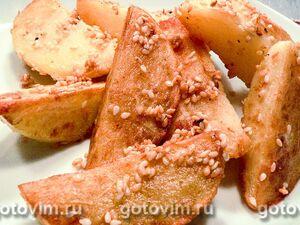 Картофель с кунжутом