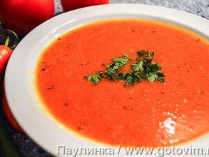 Крем-суп из сладкого перца и помидоров