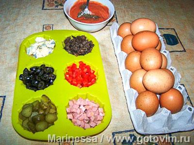Креспу - закусочный торт из омлетов с начинками, Шаг 01