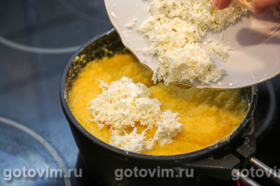 Эларджи - кукурузная каша с сыром, Шаг 05
