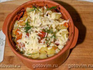 Куриное филе с овощами, запеченное в духовке