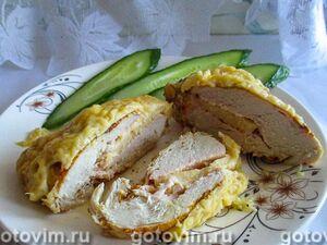 Кармашки из куриной грудки с сыром