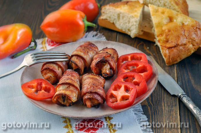 Куриное филе в беконе по-сербски