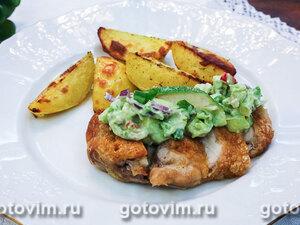 Куриное филе в духовке с сальсой из авокадо