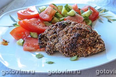 Фотография рецепта Куриное филе в ореховой панировке