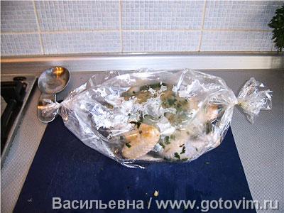 Курица, запеченная с зеленью , Шаг 03