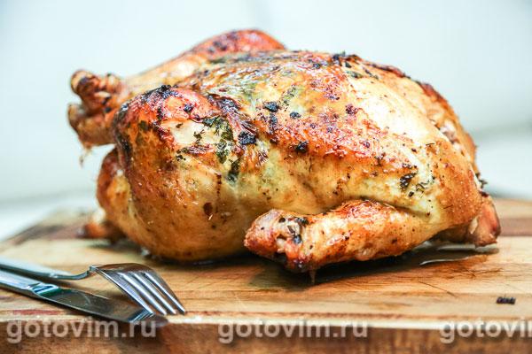Курица фаршированная в коже