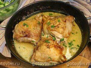 Куриные бедра с горчицей и сливками