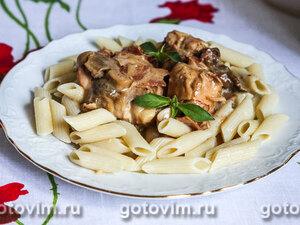 Курица с грибами в белом вине и сливках