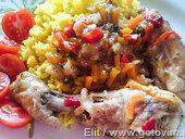Курица в пиве с овощами (Pollo a la cerveza con verduras)