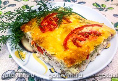 Куриная запеканка с творогом и болгарским перцем