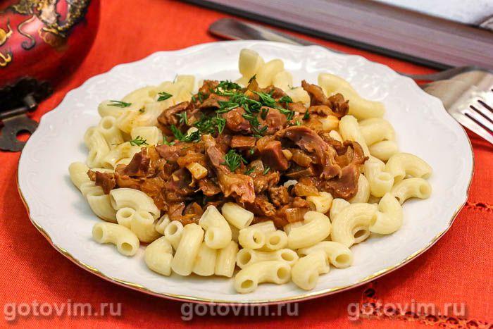 Куриные желудки в соусе барбекю