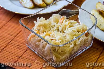 Фотография рецепта Квашеная капуста с репой