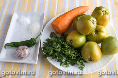 Квашенные зеленые помидоры, Шаг 01