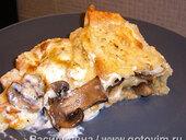 Лазанья с грибами и креветками (из лаваша)