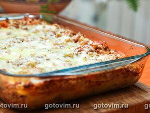 Лазанья с соусом «Tри сыра»