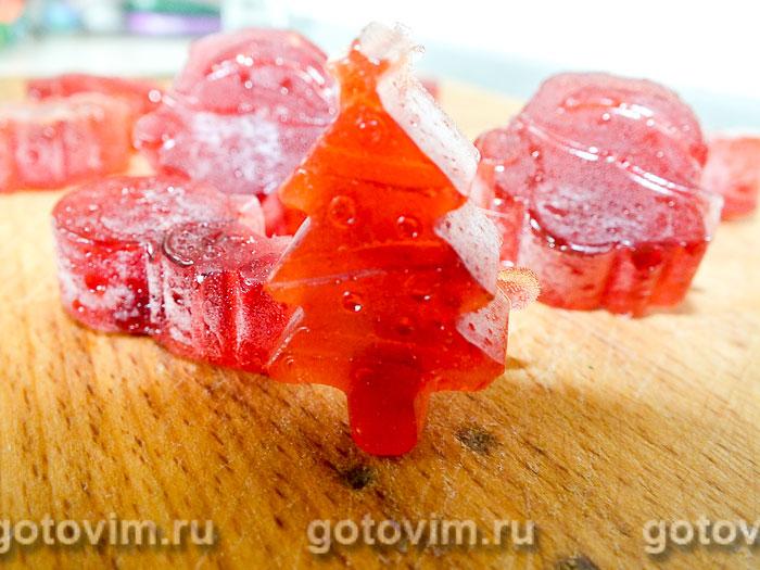 Малиновые леденцы с имбирем и мёдом. Фотография рецепта