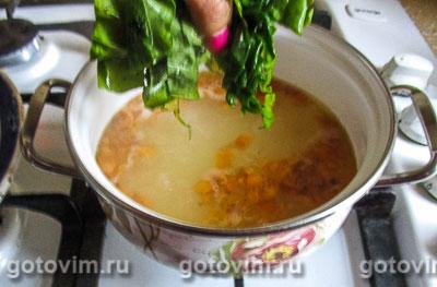 Легкий суп с щавелем и шпинатом, Шаг 05