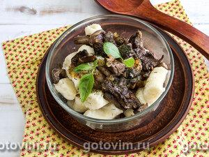 Ленивые картофельные вареники с грибами