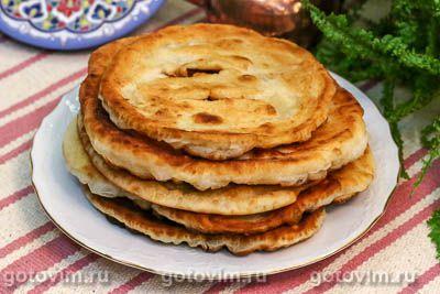 Казахские жареные лепешки на кефире и сметане (Шелпек)