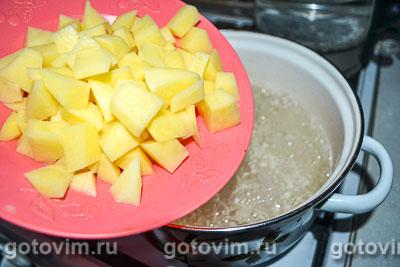 Летний суп-пюре с шампиньонами и зеленым горошком, Шаг 01