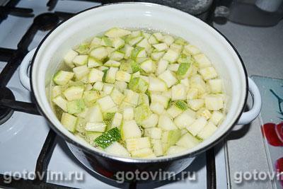Летний суп-пюре с шампиньонами и зеленым горошком, Шаг 02