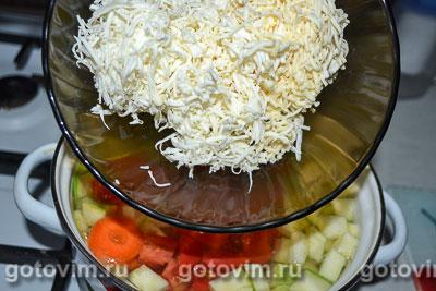 Летний суп-пюре с шампиньонами и зеленым горошком, Шаг 05