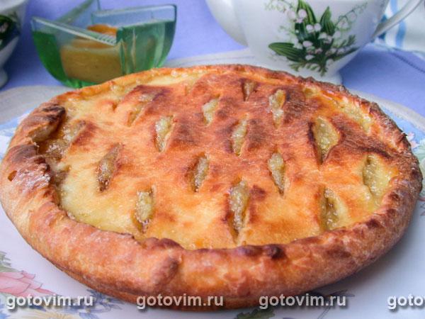 Лимонный пирог из творожного теста. Фотография рецепта