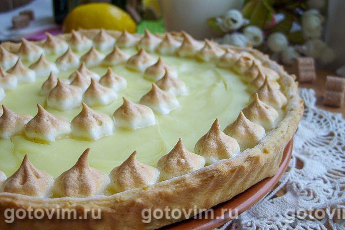 Лимонный пирог с безе. Фотография рецепта