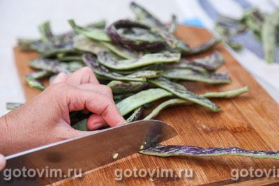 Парки лобио - стручковая фасоль с овощами, Шаг 01