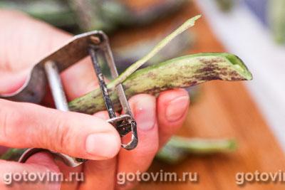 Парки лобио - стручковая фасоль с овощами, Шаг 02