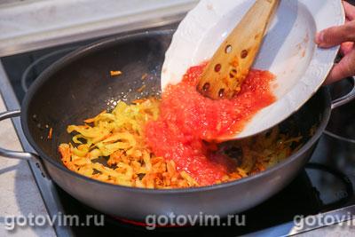 Парки лобио - стручковая фасоль с овощами, Шаг 06