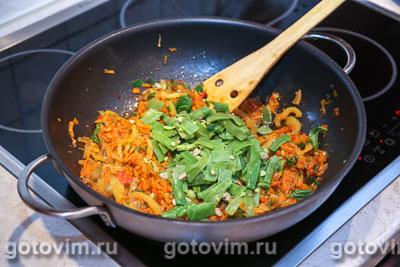 Парки лобио - стручковая фасоль с овощами, Шаг 07